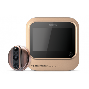 IN: Eques VEIU R26 Smart Wifi DOOR Viewer (Gold)