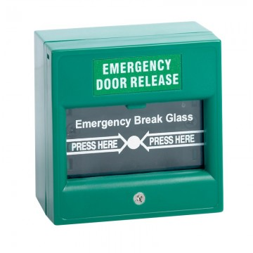 AC-Emergency Break Glass- Green (EM-BG-G)