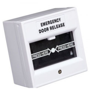 AC-Emergency Break Glass- White (EM-BG-W)