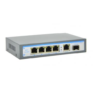 SW-4 ports Full Gigabit PoE Switch (204GP-1G1S)